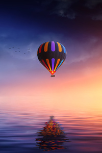 800x1280 Landscape Hot Air Balloon