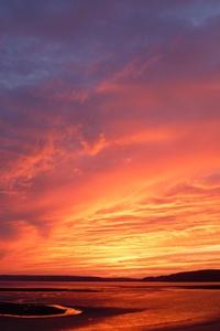 Landscape Shore Sunset 4k