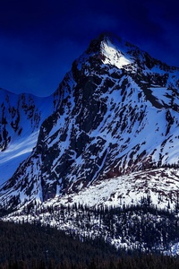 Landscape Snowy Mountains 4k
