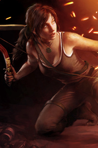 1280x2120 Lara Croft 5k
