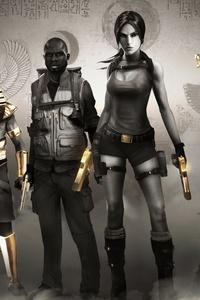 1242x2688 Lara Croft And The Temple Of Osiris 10k
