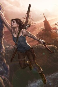 1280x2120 Lara Croft Art