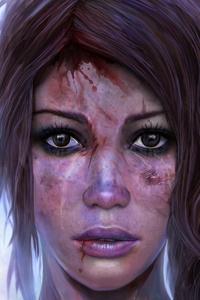 1080x2160 Lara Croft Artistic Artwork 4k