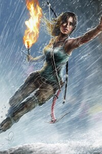 640x1136 Lara Croft Artwork