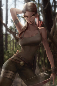 1280x2120 Lara Croft Artworks