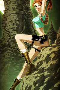320x568 Lara Croft Bit Art