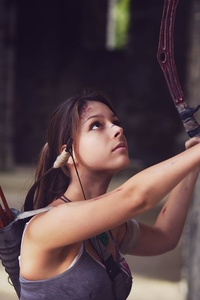 2160x3840 Lara Croft Cosplay 5k