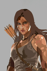 1242x2688 Lara Croft From Tomb Raider Minimal 5k