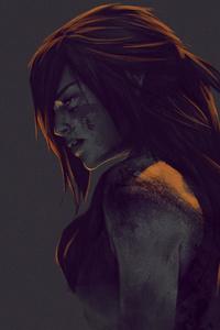 1280x2120 Lara Croft Minimalism 4k