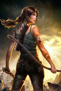 750x1334 Lara Croft Tomb Raider 4k Artwork