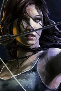 640x960 Lara Croft Tomb Raider Artwork 5k