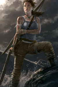640x960 Lara Croft Tomb Raider Game Art