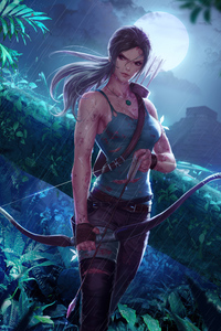1242x2688 Lara Croft Tomb Raider In Jungle 5k