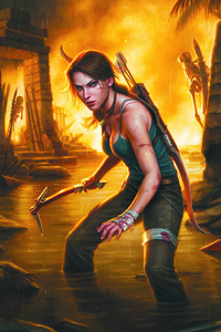 720x1280 Lara Croft Tomb Raider Warrior Girl 4k