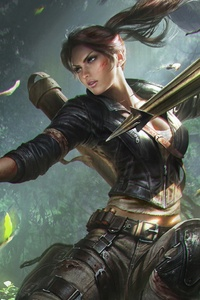 1280x2120 Lara Croft Tomb Riader Digital Art