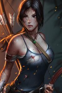 1242x2688 Lara Croft Tombraider