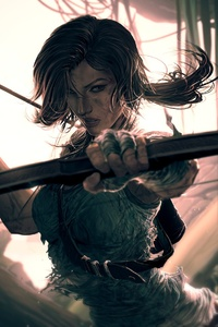 Lara Croft Video Game Art
