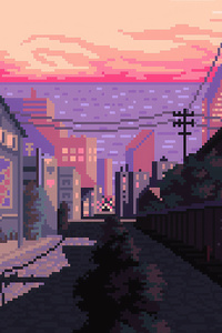1440x2960 Late Afternoon Pixel Art