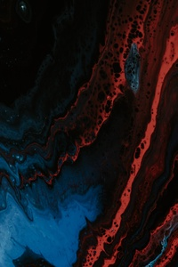 720x1280 Lava Arcylic Wave Art Abstract 5k