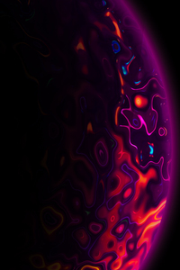 640x1136 Lava Planet Abstract 4k