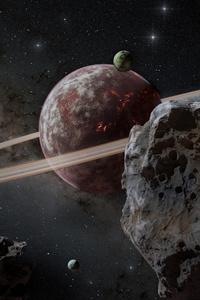 1440x2560 Lava Planet In Milky Way 8k