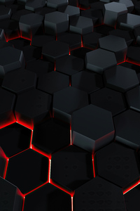 Lava Polygon Glowing 3d Abstract 4k