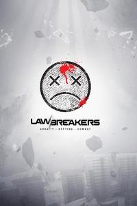 240x400 Lawbreakers 4k Logo