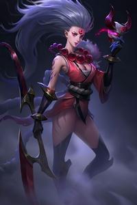 1242x2688 League Of Legends Blood Moon Diana
