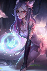 480x800 League Of Legends Fantasy Fox 4k