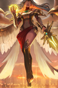 480x854 League Of Legends Kayle 5k