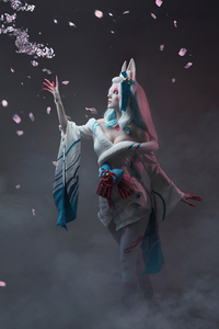 800x1280 League Of Legends Spirit Blossom Ahri Cospay 5k