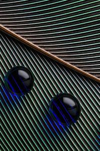 240x320 Leaves Macro Water Droplets 4k