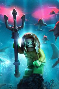 Lego Aquaman Poster 8k
