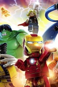 750x1334 Lego Marvel Superheroes 4k