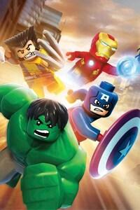 640x1136 Lego Superheroes