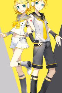 1080x1920 Len Kagamine Rin Kagamine 4k