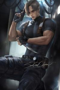320x480 Leon Resident Evil Fanart
