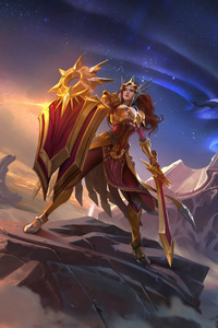 1125x2436 Leona Diana And Pantheon League Of Legends 8k