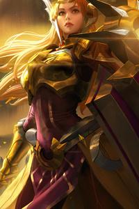 800x1280 Leona League Of Legends Game Art 4k