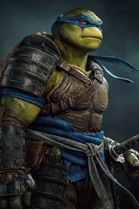 1280x2120 Leonardo Ninja Turtle 4k