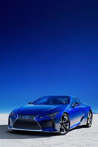 1125x2436 Lexus LC 500h Structural Blue 2018