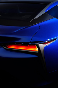 Lexus LC 500h Structural Blue 2018 Rear