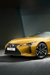 1440x2560 Lexus LC 500h Yellow Edition 2018