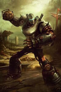 Liberty Prime Fallout Game Character Artwork 4k