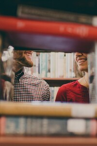Library Love Couple