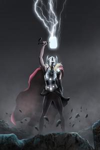 Lifting Mjolnir Jane Foster