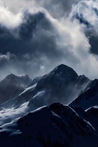 2160x3840 Light Clouds Mountains Smoge 4k