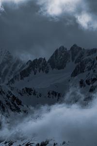 1440x2560 Light Clouds Mountains Snow 5k
