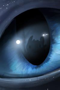 1280x2120 Light Fury Cloudy Eyes