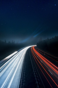 2160x3840 Light Trails Highway 5k